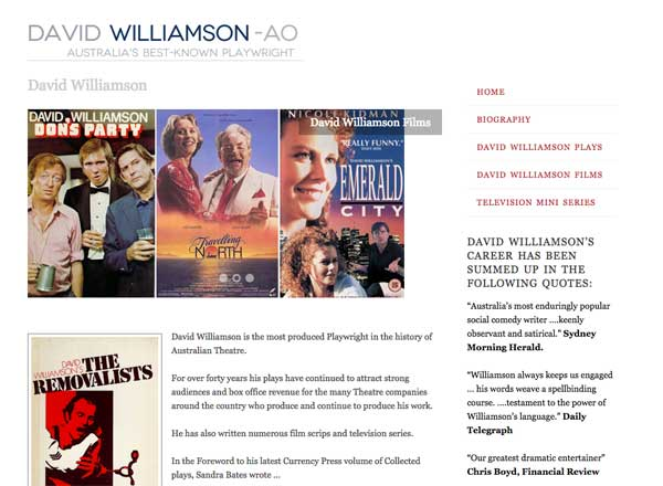 David Williamson Playwright