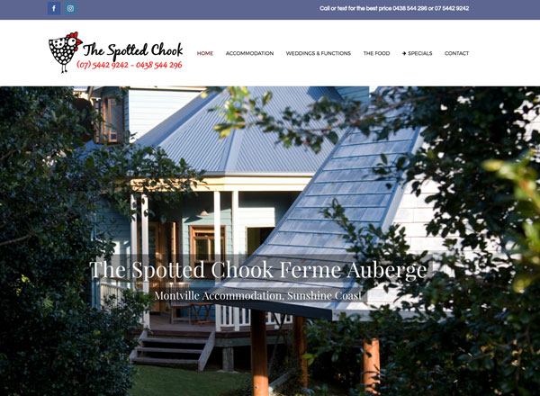 The Spotted Chook Montville Accommodation